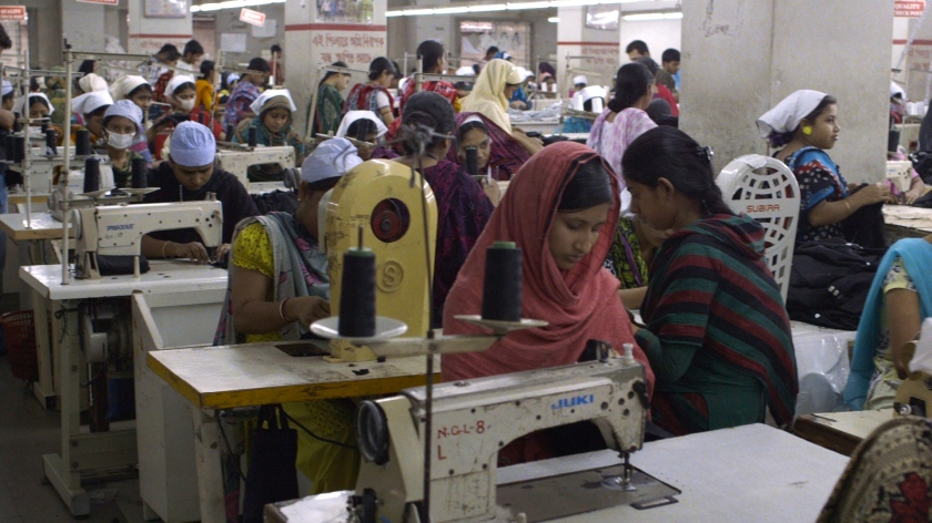 Een kledingfabriek in Bangladesh