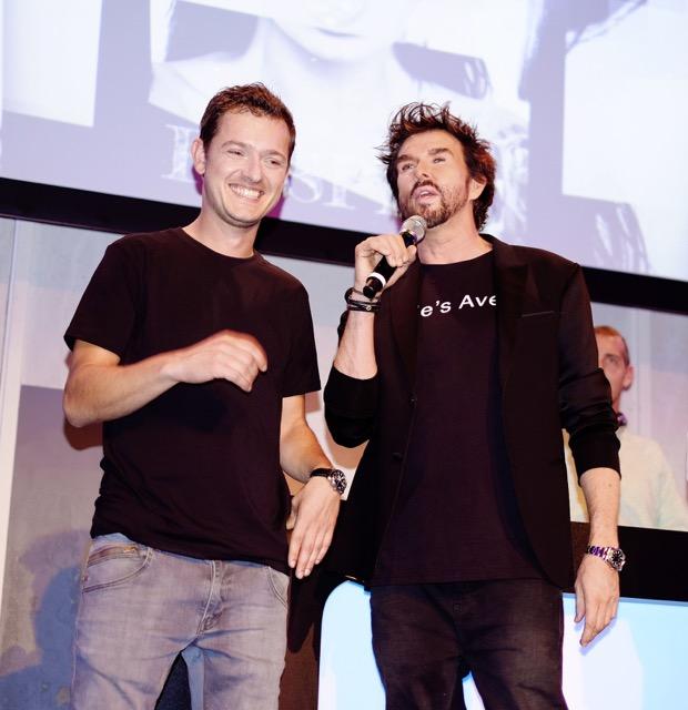 Roland Wiechert naast Mari van de Ven tijdens de lancering afgelopen maandag