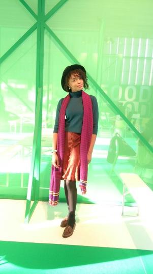 """Kimberly Willems (27) is een van de bezoekers van MINT dit jaar. """"Ik kom hier al een aantal jaar om inspiratie op te doen en mensen te spreken. Ik heb een eigen blog www.daretodefine.com waar ik schrijf over mensen die durven."""