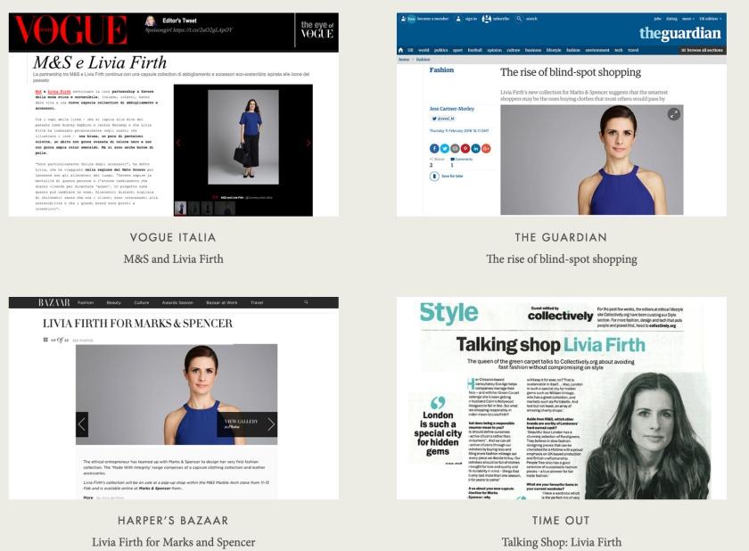 Livia Firth in de media